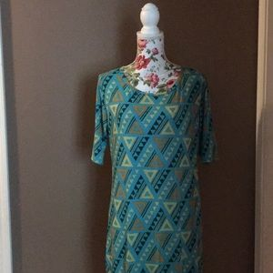 Lularoe Julia Dress 2XL | Teal & Brown